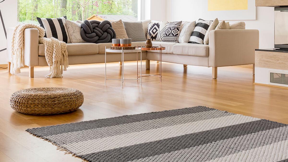 alfombra en el salón
