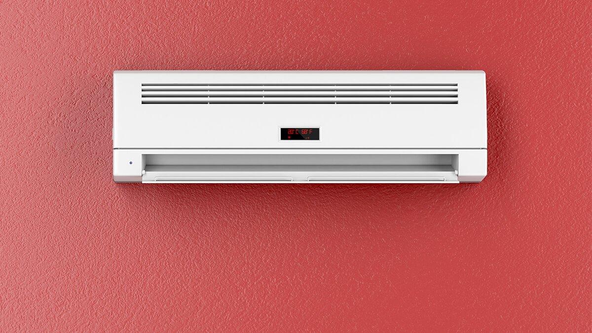 aire acondicionado en pared