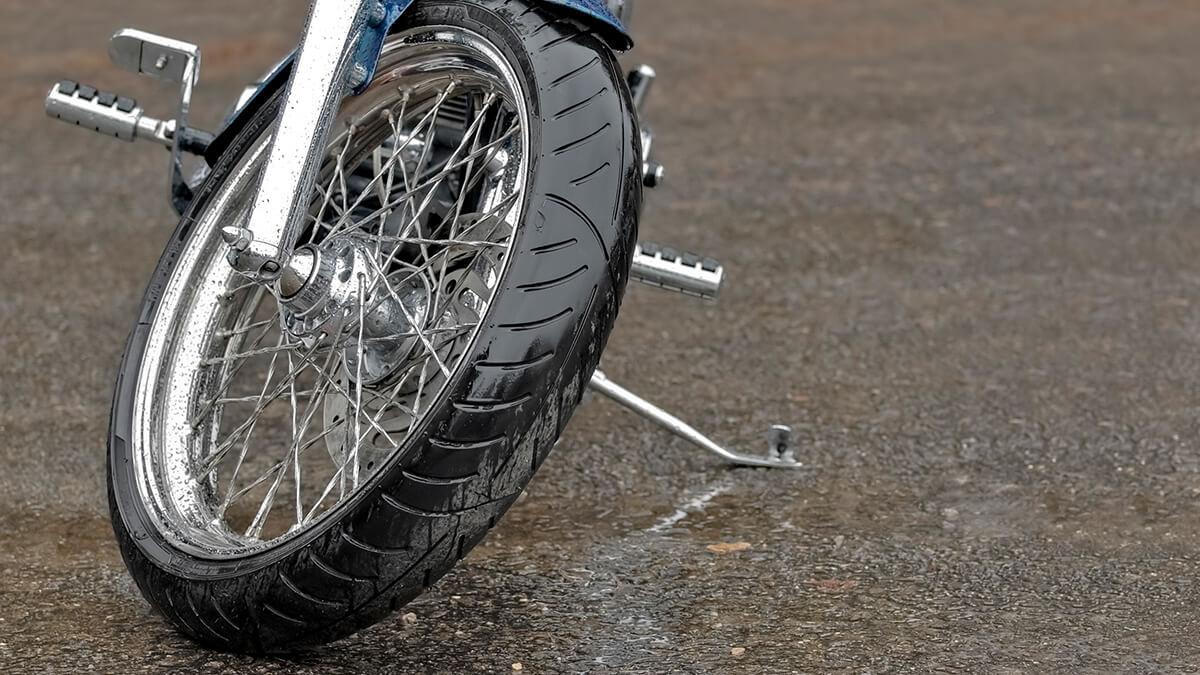 llanta de una moto